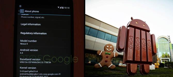 Gambar-Gambar Android 4.4 KitKat telah beredar