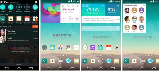 Terbaru : Gambar Penampilan Sistem Operasi LG G3 beredar di Internet