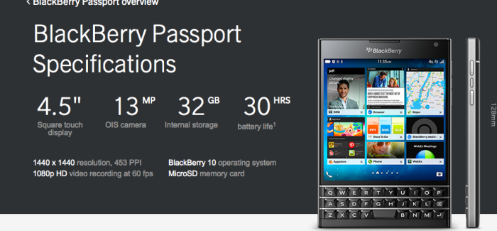 Blackberry merilis ponsel andalan terbaru nya, Blackberry Passport